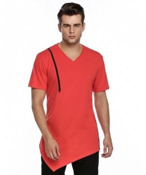 Coofandy Sleeve Longline Curved Tshirts