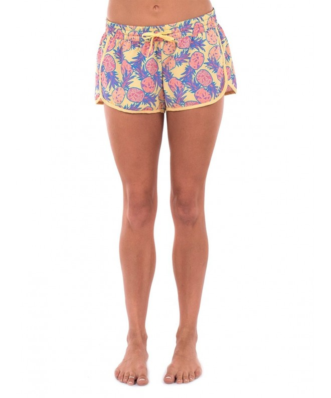 Womens Pineapple Summer Shorts Medium