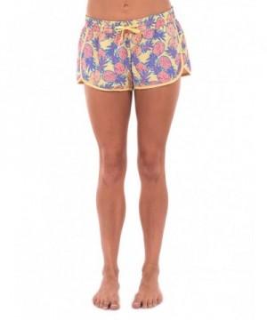 Womens Pineapple Summer Shorts Medium