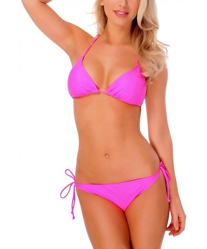ToBeInStyle Womens Solid Triangle Bikini