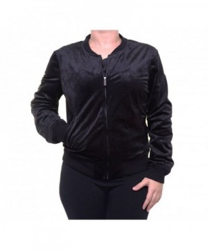 Sanctuary Womens Velvet Ribbed Bomber