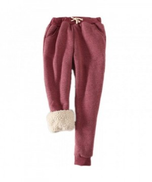 packitcute Womens Brushed Drawstring Trousers