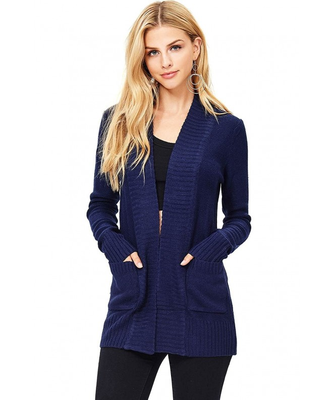 Ambiance Womens Casual Slip Cardigan