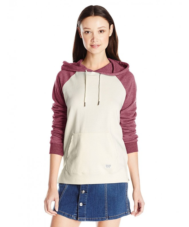 Volcom Juniors Blocked Pullover Crimson