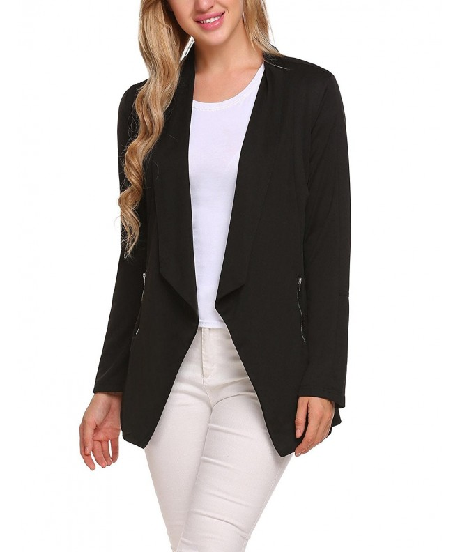 ELESOL Womens Boyfriend Blazer Tailored