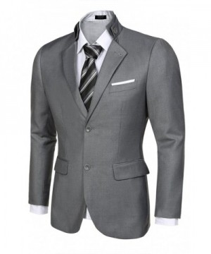JINIDU Stylish Two Button Business Blazers