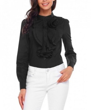 Hersife Sleeve Blouse Ruffle Button
