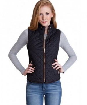 Ladies Black Quilted Padded Zipper
