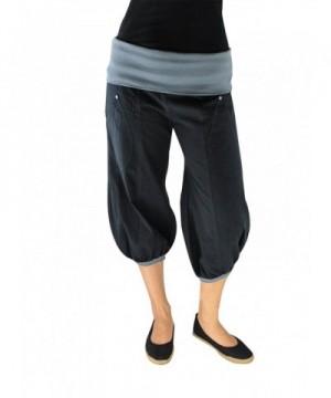 virblatt Cropped Pants Harem Sonnengru###Women's Athletic Pants