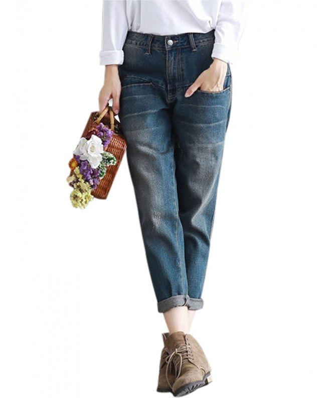 Yeokou Womens Distressed Cropped Picture