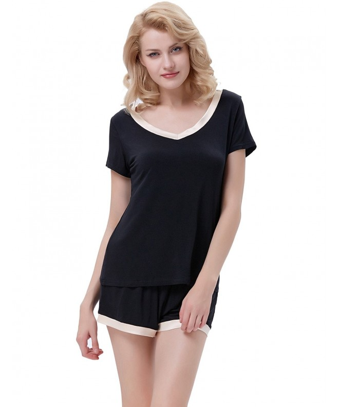 Women Pajamas V Neck Sleeve ZE41 1