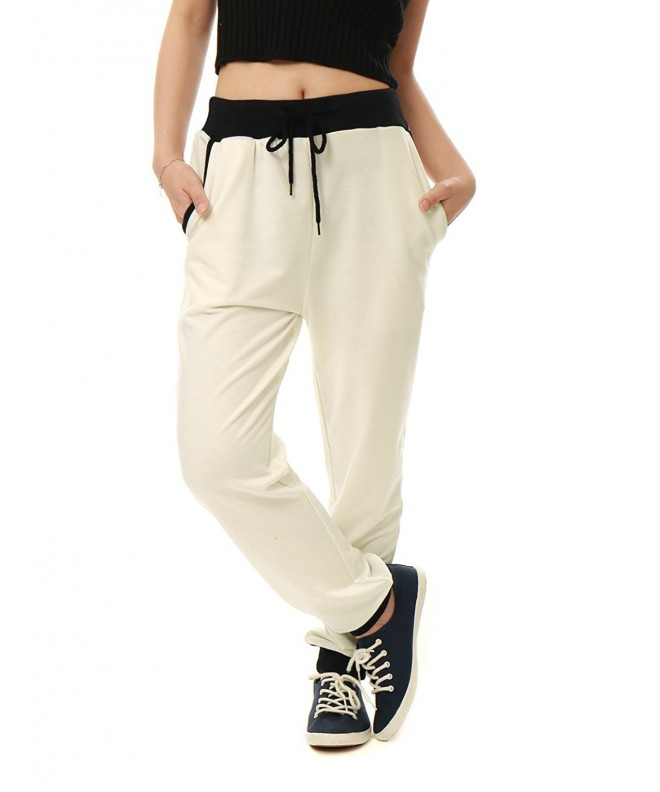 Allegra Pockets Tapered Drawstring Joggers