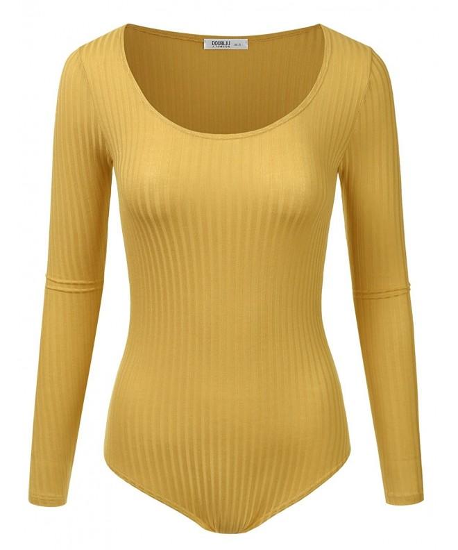 Doublju Stretchy Scoopneck Bodysuit available