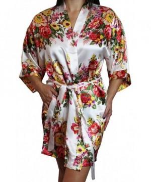 Womens Floral Kimono Bridesmaid Pockets