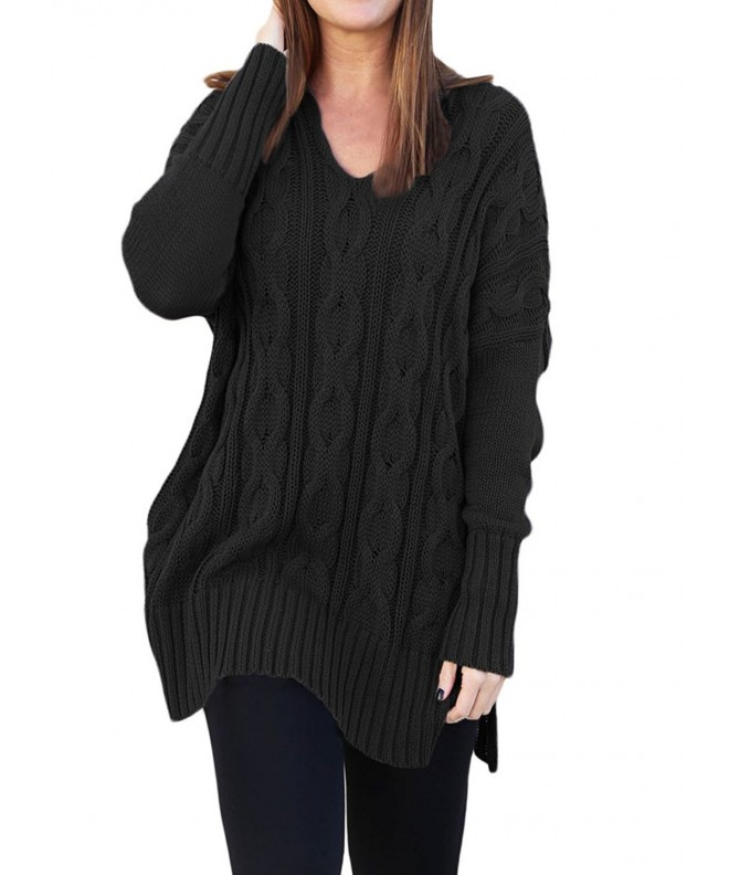 HUUSA Womens Sleeve Sweater Pullover