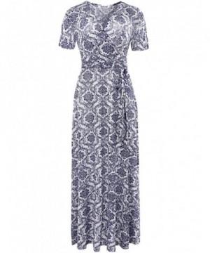 Aphratti Womens Bohemian Short Sleeve