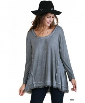 Umgee Womens Mineral Washed Sleeves