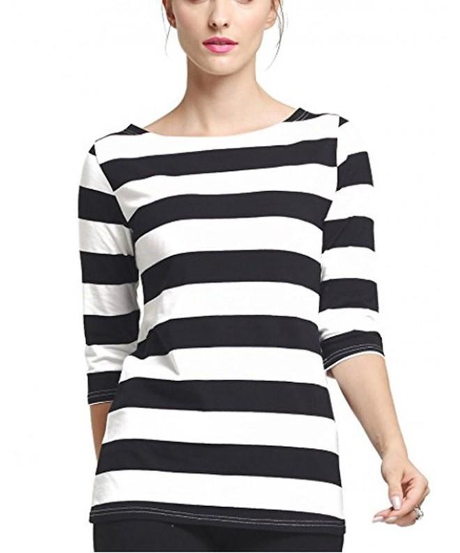 FELACIA Womens Elbow Sleeves Striped