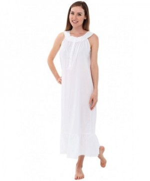 Alexander Del Rossa Nightgown A0562WHTMD