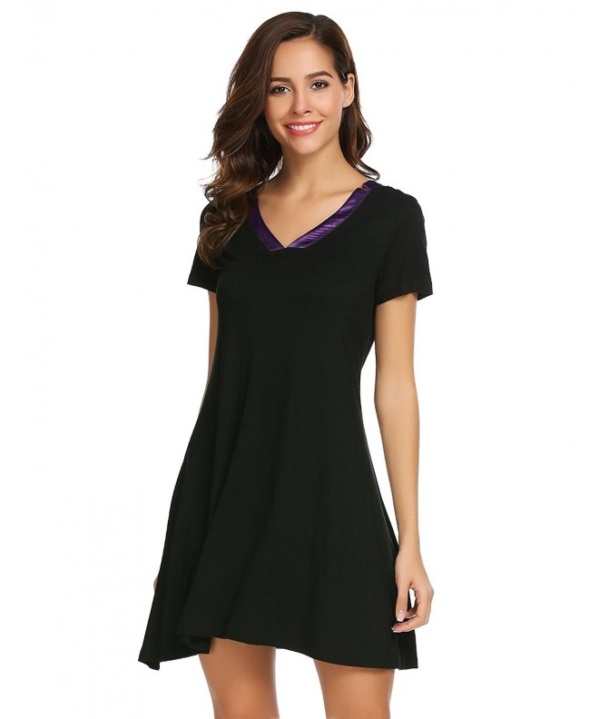 Bulges Womens Sleeve Nightshirt Nightgown