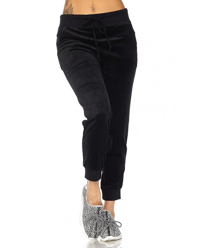 SOHO GLAM Velour Jogger Available