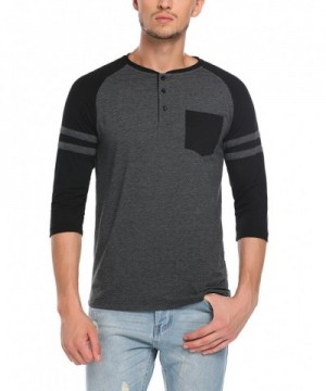 HOTOUCH Active Henley T Shirt Black