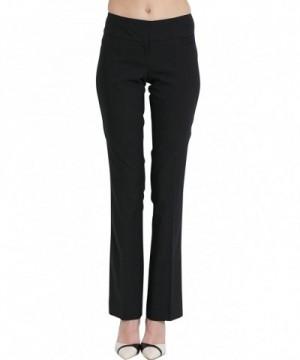 SATINATO Stretch Bootcut Classic Trousers