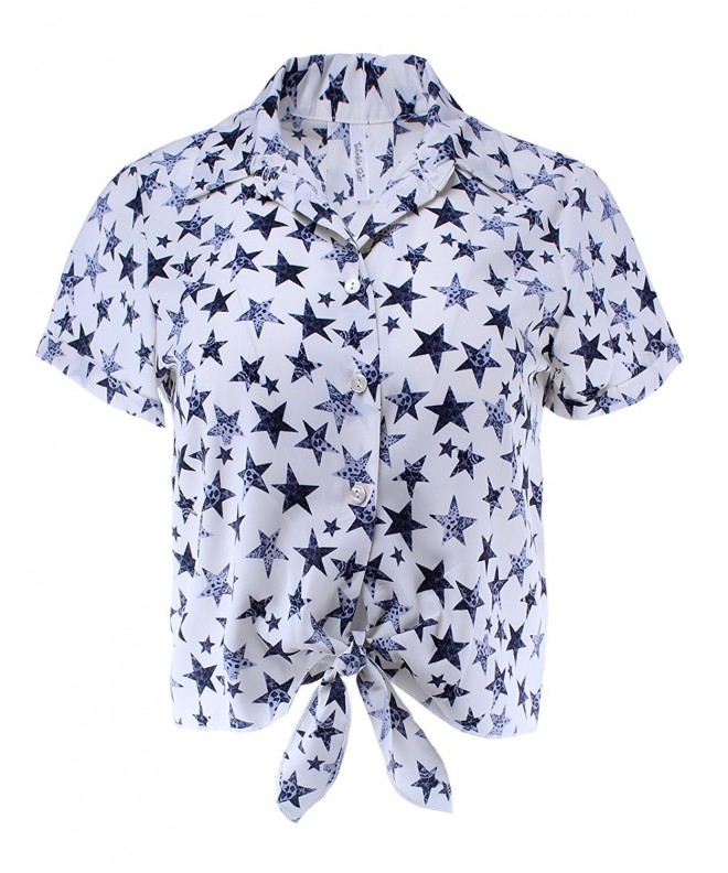 Twinkle Star Print Sleeve Button