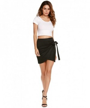 Womens Stretch Waistband Bandage Bodycon