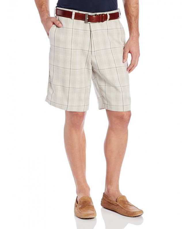 Haggar Plaid Plain Front Short