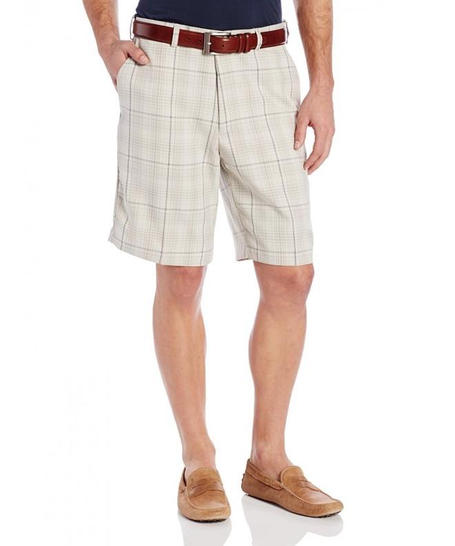 Haggar Plaid Plain Front Short