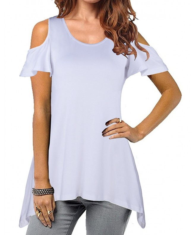 STYLEWORD Womens Shoulder Casual T Shirt