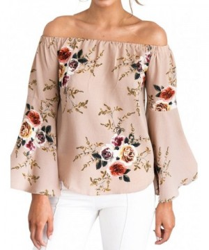 Glamaker Womens Shoulder Floral Sleeves