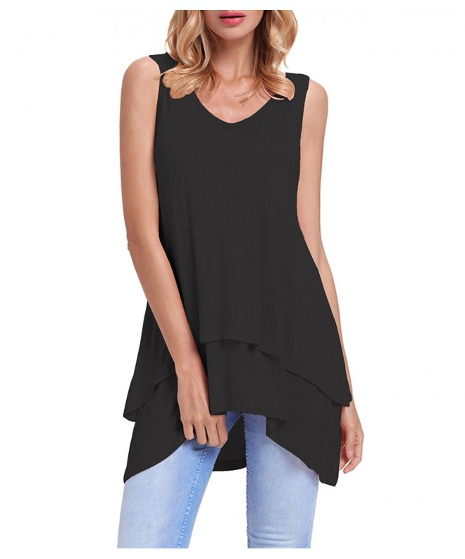 Womens Sleeveless Summer Ruffle Casual