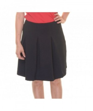 Alfani Pleated Line Skirt Black