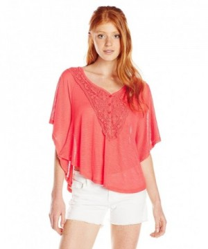Spoiled Juniors Circle Embroidery Coral