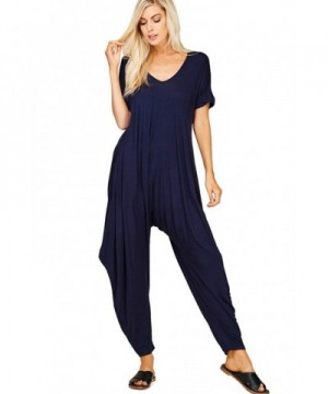 Annabelle Womens Sleeves Jumpsuits Pockets