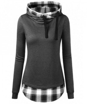 DJT Womens Funnel Contrast Pullover