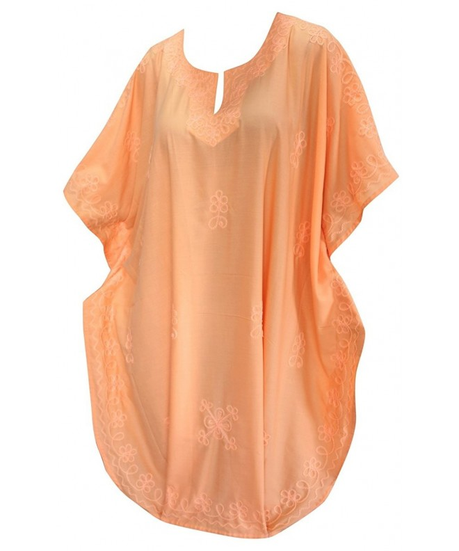 Women Embroidered Swimwear Beach Orange