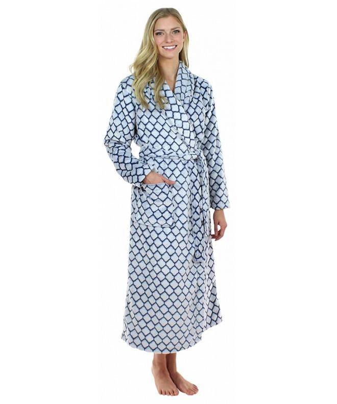 Sleepyheads Womens Bathrobe Quatrafoil SHP1400 4063 MED