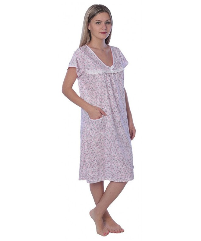 Womens Scoop Cotton Nightgown Printed