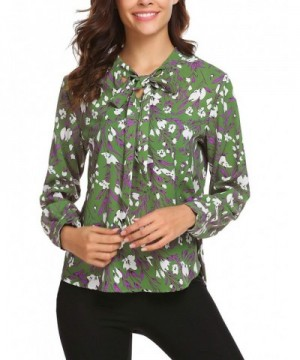 Elesol Womens Printed Sleeve Pleated