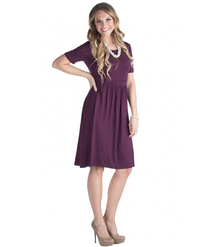 Erin Modest Dress Deep Purple