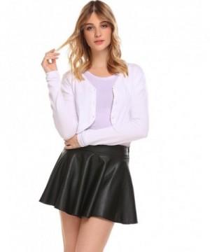 Zeagoo Womens Cropped Cardigan Sweater