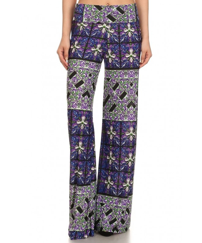 Womens Length Palazzo Floral Patchwork