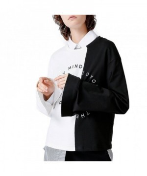 TOYOUTH T Shirt Letter Printed Contrast