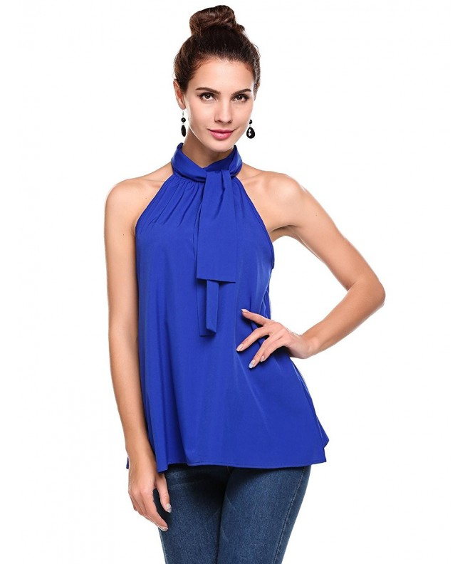ThinIce Summer Sleeveless Halter Blouse