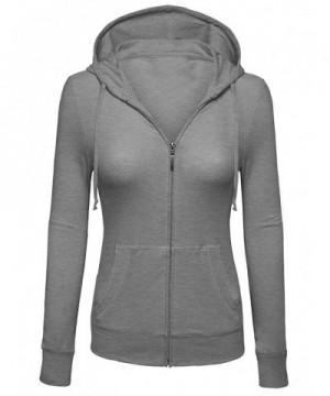 Womens Sleeve Hoodie Jacket Heather