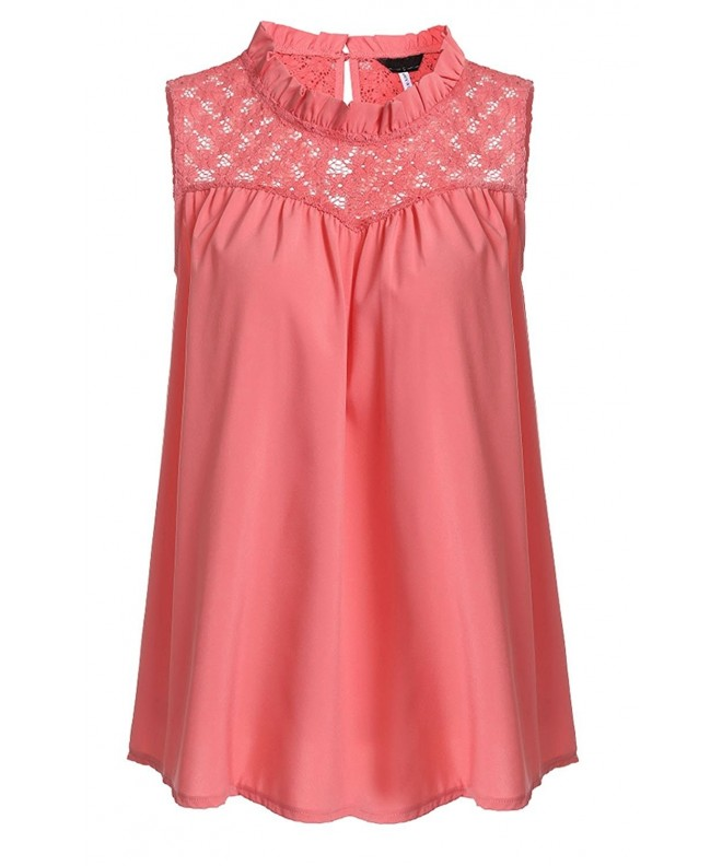Womens Summer Sleeveless High Chiffon