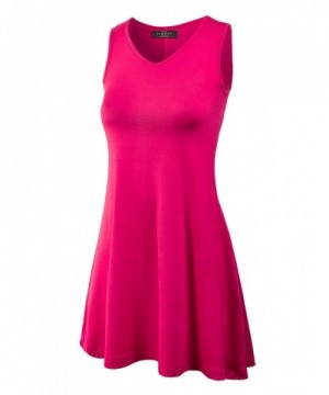 WT827 Womens Sleeveless Dress Coral